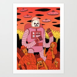 Alien Invader Art Print