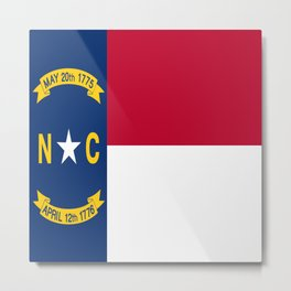 flag of north carolina-south,america,usa,Old North State,Tar Heel,North Carolinian,Charlotte,Raleigh Metal Print
