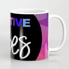 Positive Vibes Bright Colors Print Home Decor Coffee Mug