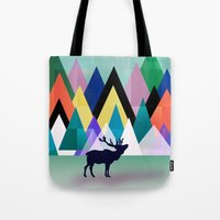 hipster Tote Bags featuring hipster by mark ashkenazi