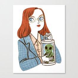 Dana Scully, Patron Saint of Nerds Canvas Print