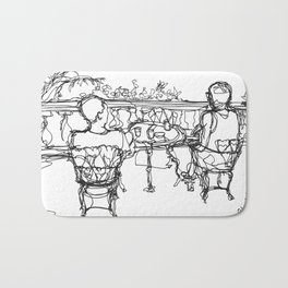 B & G, Happy Anniversary (A Continuous Line Drawing) Bath Mat