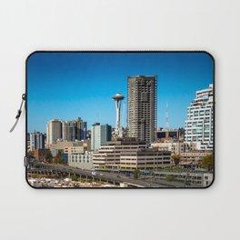 Seattle Space Needle and Aquarium Laptop Sleeve