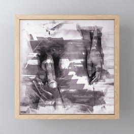 Time to love Framed Mini Art Print
