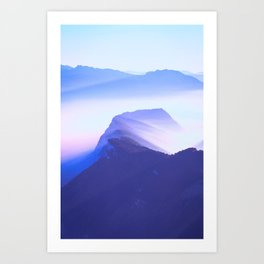 French mountains Art Print