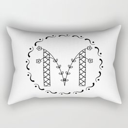 M - decorative monogram. Rectangular Pillow