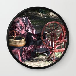 Spinning Wheel Wall Clock