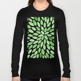 Watercolor brush strokes -  summer green Long Sleeve T-shirt