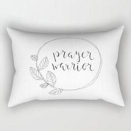 Prayer Warrior, leaf wreath Rectangular Pillow