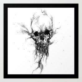 SAND SKULL Art Print