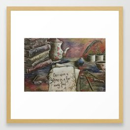 Writer's Workspace Framed Art Print