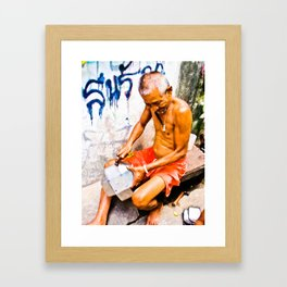 Thai Merchant Framed Art Print