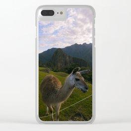 Machu Picchu 001 Clear iPhone Case