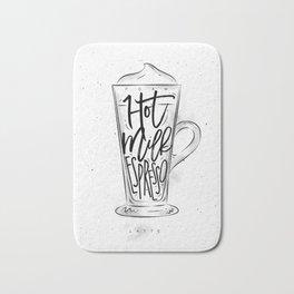 Coffee latte cup Bath Mat