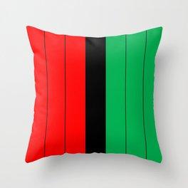 Kwanzaa Red Black Green Stripes Throw Pillow
