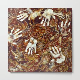 Primitive Cave Painting Metal Print