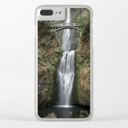 Iconic Multnomah Falls in the Columbia River Gorge of Oregon Clear iPhone Case