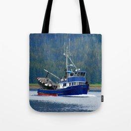 Petersburg Alaska Fishing Boat Tote Bag