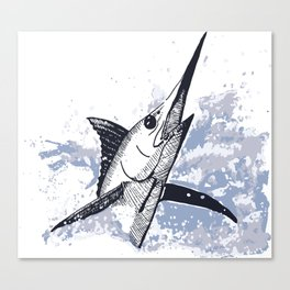 swordfish breaching Canvas Print