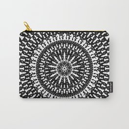 Chess Pieces Mandala - Grayscale Carry-All Pouch
