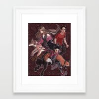 paisley Framed Art Prints featuring paisley by callahaa