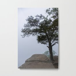 Heritage Point Overlook in the Fog Metal Print