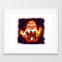 ghost busters Framed Art Prints featuring Pumpkin carving Ghost Busters  by grapeloverarts