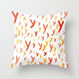 Painted Y Throw Pillow