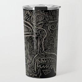 Black and White Graffiti Art Tribal  Travel Mug