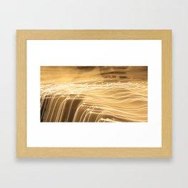 strokes of light Framed Art Print