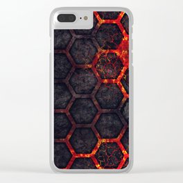 Lava Hexagons Clear iPhone Case