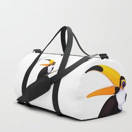 Exotic toucan. Vector graphic character Duffle Bag