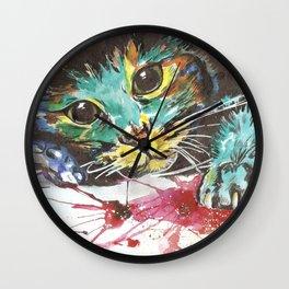 Emerald cat Wall Clock