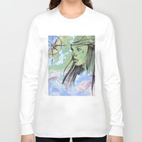 pirate Long Sleeve T-shirts featuring pirate. by Bárbara  Kramer