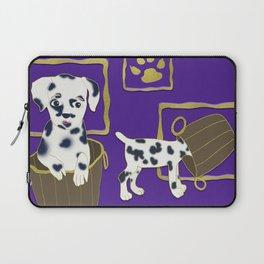 Purple puppy antics | Puppies at play Laptop Sleeve