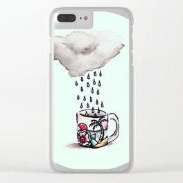 Mint Rain Brew Clear iPhone Case