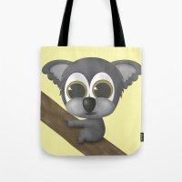 koala Tote Bags featuring KOALA by Ainaragm