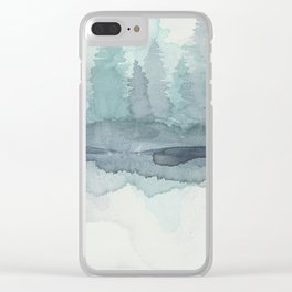 Pines in the Morning Mist Clear iPhone Case