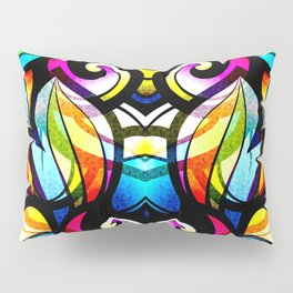 Colorful Abstract Stained Glass Design Pillow Sham