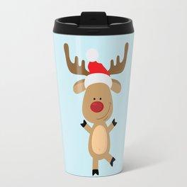 Dancing Rudolph Red Nosed Reindeer Merry Christmas Travel Mug