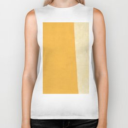 Yellow White Biker Tank