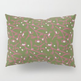 Pink Mistletoe Pillow Sham