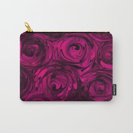 Berry Fuchsia Roses Carry-All Pouch