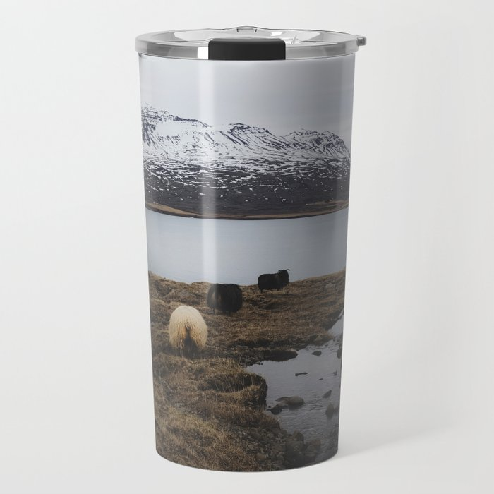 Sheep in Iceland Travel Mug