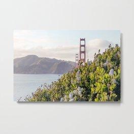 The Golden Gate Bridge in Spring Metal Print