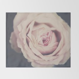 french rose Throw Blanket