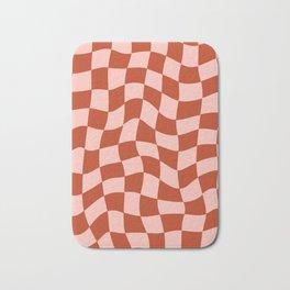 Play Checkers Blush Bath Mat