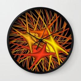 chaotic colors -4- Wall Clock