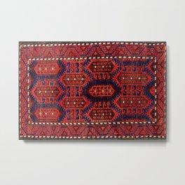 Baluch  Antique  Khorasan Persian Rug Metal Print