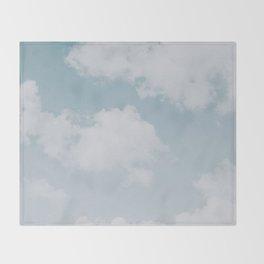 summer clouds Throw Blanket